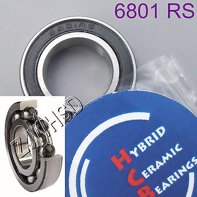 6801 2RS Si3N4 Hybrid Ceramic Ball Bearing Rubber Sealed 12 x 21 x 5mm