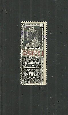Canada Weights Measures Stamp #fwm41 (Used) From 1897.