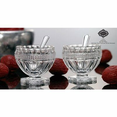Godinger Silver Art Pair OF Round Salt Cellars