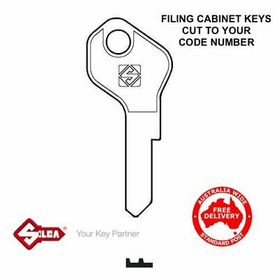 Lost Filing Cabinet Key Replacement- Keys Cut To Your Code Number-FREE POSTAGE
