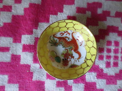 Small Vintage Asian Dragon Bowl Dish
