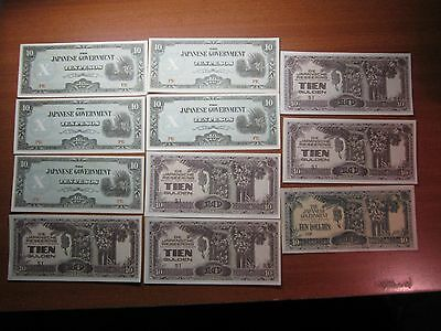 JAPANESE INVASION MONEY x11 Almost Uncirculated note136
