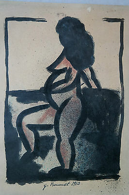 Georges Rouault. Nude - drawing ink and watercolors. Signed and dated 1910 !!