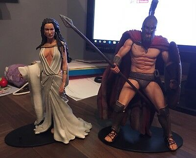 "300 Leonidas And Queen Gorgo 7"" Figures Neca / warner Bros 2007 Collectible"