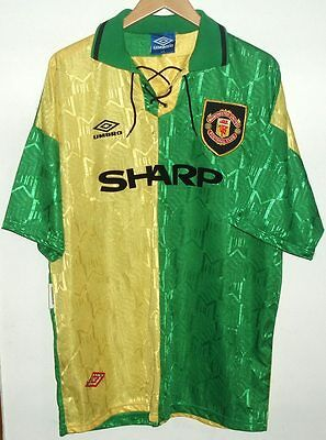 Manchester United 1992 Authentic Football Shirt By Umbro Xxl
