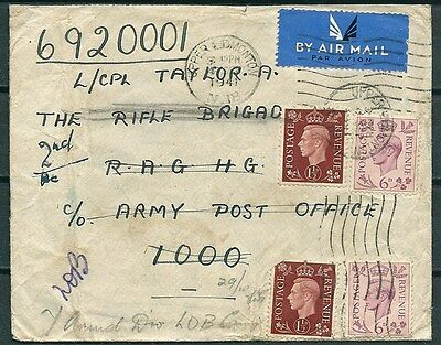 Gb 1941 Cover, Upper Edmonton To Rifle Brigate Army Post Office Egypt-Cag 210117