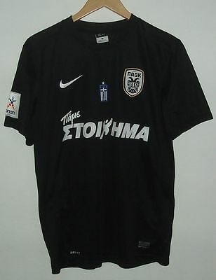 Paok Salonica Matchworn / Issue Authentic Football Shirt Nike #15 Vitor Greece