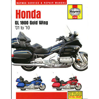 HAYNES MANUAL Honda GL1800 Gold Wing 1800 2001-10