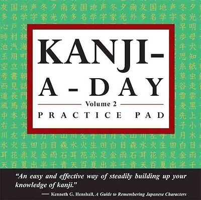 Kanji-A-Day Practice Pad Volume 2 by Paperback Book (English)