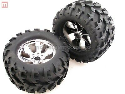 Coppia Gomme Monster Truck Off-Road 15x8cm Esagono 12mm modellismo