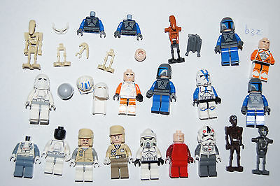 Lego BULK - STAR WARS Minifigures + spares mix - Droids, Troopers (b32) *GENUINE