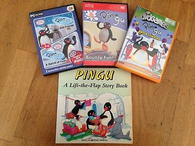 Pingu Bundle - A Lift the Flap Book, DVD games, PC Double Disc Games & M&S DVD