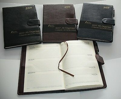 2017 Diary A5 Week to View Personal Organiser with Address Book & Pen 2083