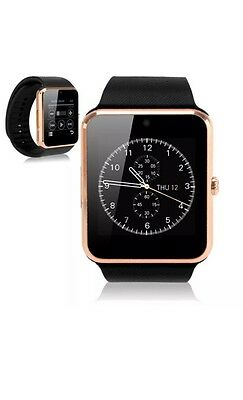 Latest Touch Screen Bluetooth Best Smart Watch Phone Mate For Android Apple GOLD