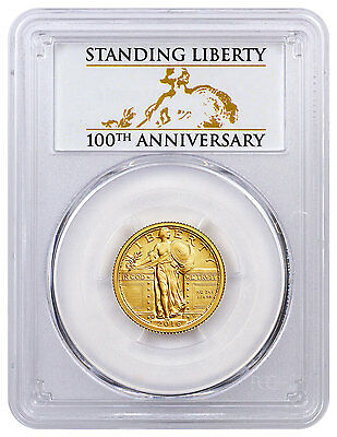 2016-W 1/4 oz Gold Standing Liberty Quarter Centennial PCGS SP70 *100th SKU45332