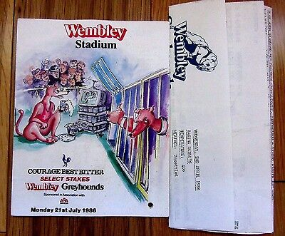 1986 Select Stakes Racecard And 1986 Unrelated Results Sheet With Ballyregan Bob
