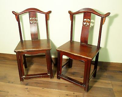 Antique Chinese Ming High Back Chairs (5773) (Pair), Circa 1800-1849