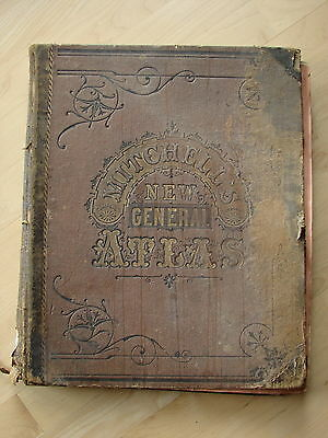 1877 Mitchell's New General Atlas 83 Plates 140 Maps & Plans Folio