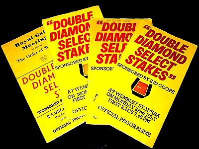 1974 + 1975 + 1976 + 1977 Select Stakes Greyhound Racecards From Wembley Stadium
