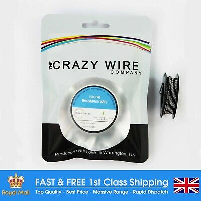 26 AWG & 32 AWG Fused Clapton Coil - Kanthal A1 Type - 5M Spool - 4.36 ohms/m