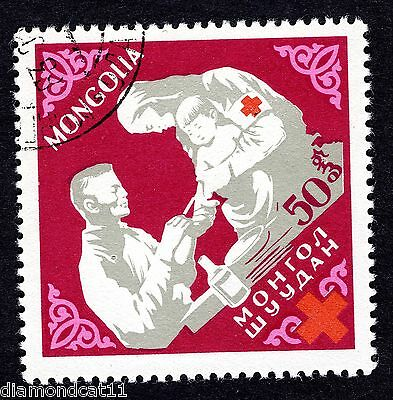 1963 Mongolia 50m Red Cross Blood Doctor SG312 FINE USED R28053
