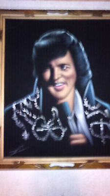 A Very Nice And The Best Looking Elvis Presley Velvet Painting