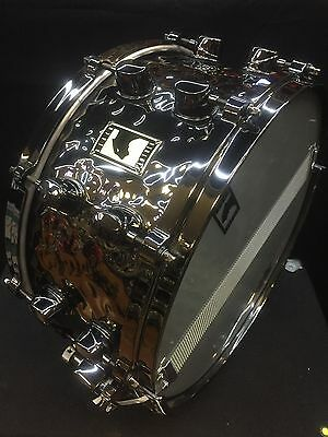 "Black Panther 14x6.5"" Hammered Brass Snare Drum - New Old Stock"