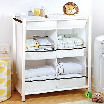 MUNCHKIN BABY NURSERY ORGANISER STORAGE DRAWERS Cupboard Nappy Wipes Clothes NEW