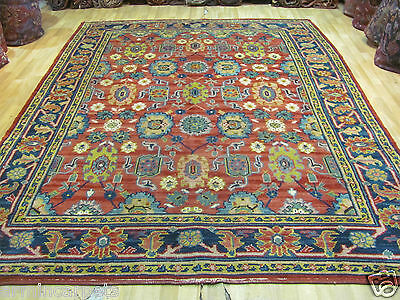 ANTIQUE FANTASTIC HANDMADE OSHAK TURKISH CARPET (340 x 258 cm)