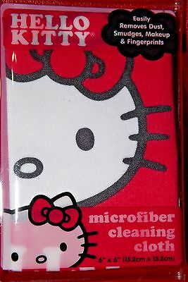 "NEW: Hello Kitty Antimicrobial Microfiber Cleaning Cloth 6""x6"" 902787"