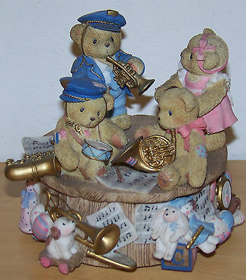 Cherished Teddies Windup Musical Ornament - Oh When The Saints Go Marching In