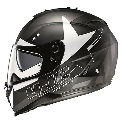 HJC IS17 Motorcycle Helmet -Armada Black/White