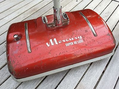 "Vintage Retro 1950s Red ""Mercury"" Carpet Sweeper"