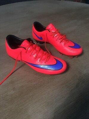 5.5Y Nike Youth Mercurial Vapor X Fg Soccer Cleats (Bright Crimson/violet)