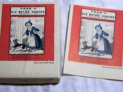 Vintage New York Public Library Bookplates Box of 50 Old Mother Hubbard B10
