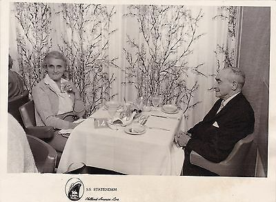 SS Statendam - Vintage On Board Photograph - Holland-America Line - Luxury Liner