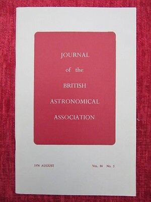 1976 Journal Of The British Astronomical Association Aug. Vol 86 No.5 uc4