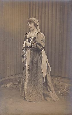 Lady In Beautiful Fancy Dress Costume - Tudor Style Outfit - Beads - Glamour