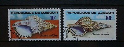 DJIBOUTI 1978 Sea Shells. Set of 2. Fine USED/CTO. SG741/742.