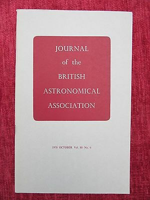 1970 Journal Of The British Astronomical Association Aug Vol 80 No.6 uc4
