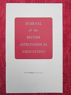 1971 Journal Of The British Astronomical Association Oct Vol 81 No.6 uc4
