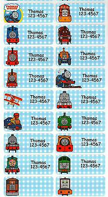 Personalized Waterproof Name label sticker, Thomas Train Qty20 Large