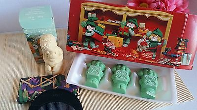 Vtg Lot of Avon Collectables Bamboo Comb Tender Moments Soap Christmas Elfikins