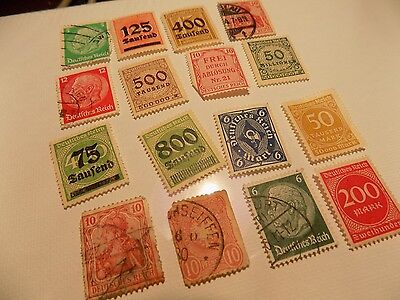 Lot #F Postage Stamps with Postmarks Used Deutsche Post Germany