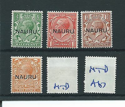 wbc. - GB Overprints - A67- NAURU - GEORGE V -  4 vals high cat. - MTD MINT