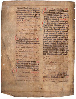 1100-1150 Ad Gigantic Ancient 900-Year Carolingian Breviary, Pre Bible Incunable
