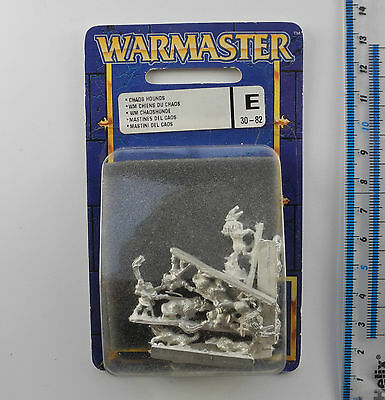 Warmaster CHAOS HOUNDS (e) Metal Army Blister Pack War Master 1999 K261
