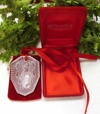 1994 Waterford Crystal Christmas Tree Ornament W/ Box No Papers