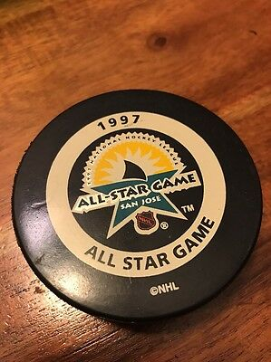 Vintage 1997 ALL STAR GAME OFFICIAL GAME PUCK NHL HOCKEY (KC)