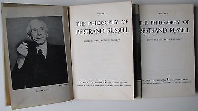 The Philosophy of Bertrand Russell Torchbooks 1963 Set of 2 volumes